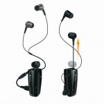 STEREO BLUETOOTH HEADSET IXCHANGE RETRACTABLE UA-28SE-V ΜΕ ΔΟΝΗΣΗ - ΜΑΥΡΟ