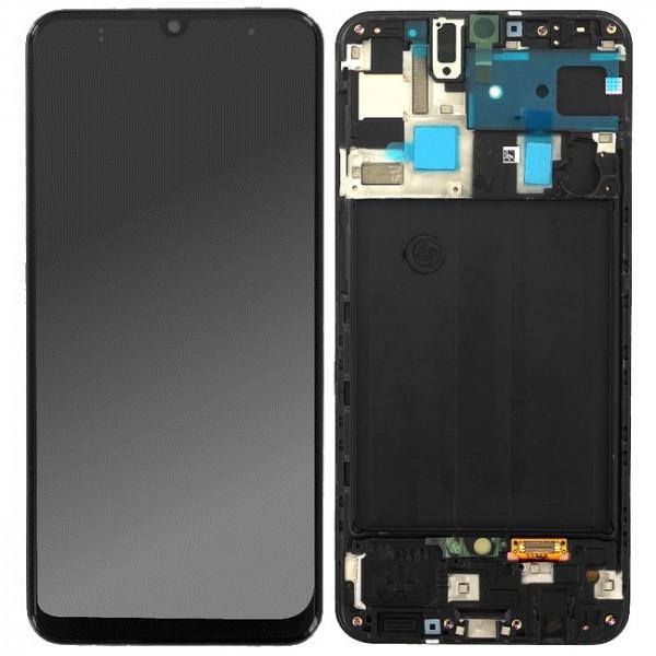 ΓΝΗΣΙΑ ΟΘΟΝΗ LCD ΜΕ TOUCH SCREEN ΓΙΑ SAMSUNG GALAXY A50 A505F - ΜΑΥΡΟ