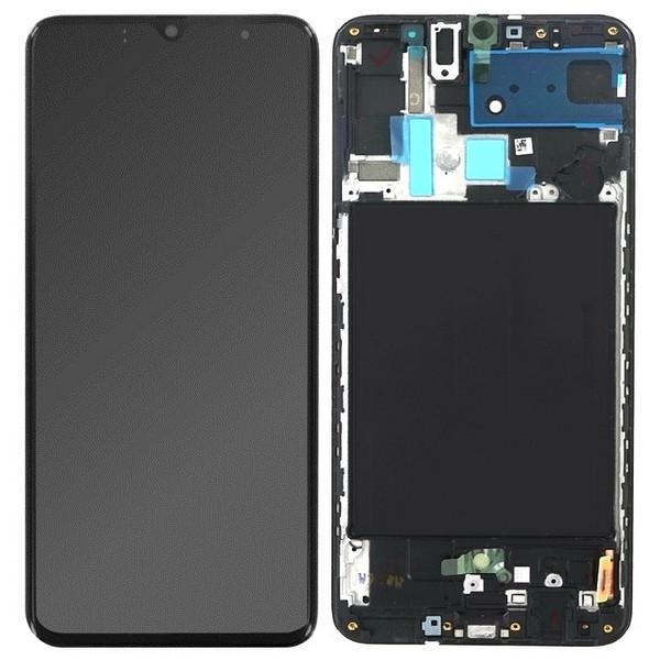 ΓΝΗΣΙΑ ΟΘΟΝΗ LCD ΜΕ TOUCH SCREEN ΓΙΑ SAMSUNG GALAXY A70 A705F - ΜΑΥΡΟ