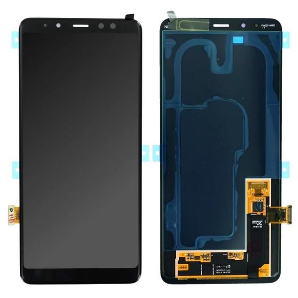 ΓΝΗΣΙΑ ΟΘΟΝΗ LCD ΜΕ TOUCH SCREEN ΓΙΑ SAMSUNG GALAXY A8+ PLUS 2018 A730F - ΜΑΥΡΟ