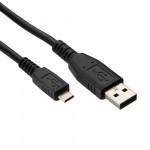 ΚΑΛΩΔΙΟ ΦΟΡΤΙΣΗΣ & ΔΕΔΟΜΕΝΩΝ MICRO USB 1,5M - ΜΑΥΡΟ
