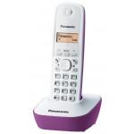 PANASONIC ασύρματο τηλέφωνο KX-TG1611GRF με ελληνικό μενού, άσπρο-μωβ