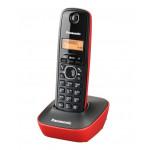 PANASONIC ασύρματο τηλέφωνο με ελληνικό μενού, μαύρο-κόκκινο