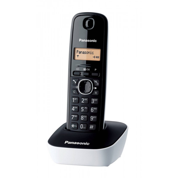 PANASONIC ασύρματο τηλέφωνο με ελληνικό μενού, μαύρο-άσπρο