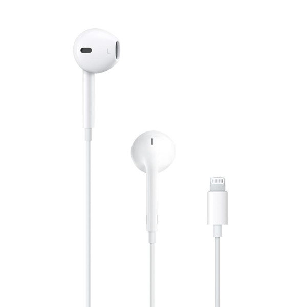 APPLE EarPods με Lightning connector MMTN2ZM-A (A1748), λευκά