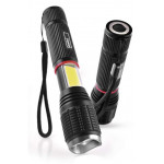 EMOS LED φακός με ζουμ P3111, 230lm, 210m, μεταλλικός, μαύρος