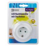 EMOS LED φωτιστικό νυκτός P3308, schuko, με αισθητήρα φωτός, λευκό