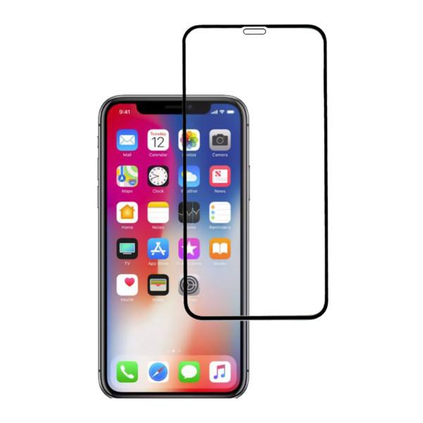 POWERTECH Tempered Glass 5D, Full Glue, iPhone 11, μαύρο