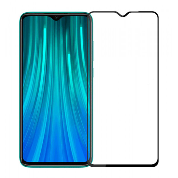 POWERTECH Tempered Glass 5D, Full Glue, Xiaomi Redmi Note 8, μαύρο